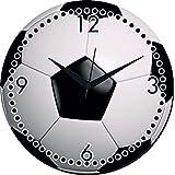 MeSleep Football Wall Clock With Glass Top