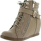 Top Moda Womens Peter-1 Fashion Sneakers Thumbnail Image