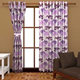Ab home decor Polyester Window Curtains (Set of 2)- 5 Feet x 4 Feet,Purple