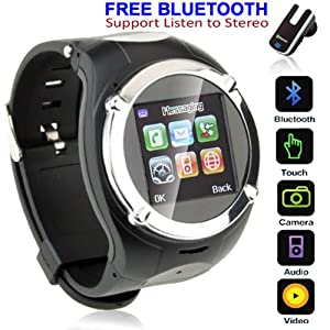 Unlocked GSM Watch Cell Phone w/ Bluetooth Spy Camera Camcorder MP3 MP4 FM Radio from inDigi
