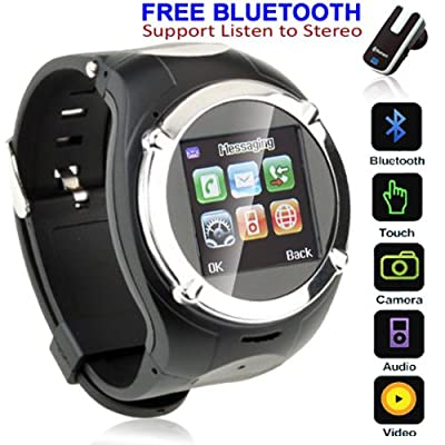inDigi® Stylish GSM Wireless Watch Cell Phone w/ Bluetooth Spy Camera MP3 MP4 ~Unlocked! from inDigi
