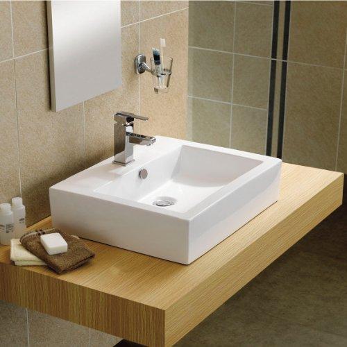 INK-0402023(AT78076) オンカウンタータイプ スクエア 陶器製 洗面ボウル