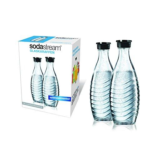 SodaStream Duopack / 1047200490 Carafe en verre 2 x 0,6 l Pour modèles Penguin et Crystal (Import Grande Bretagne)