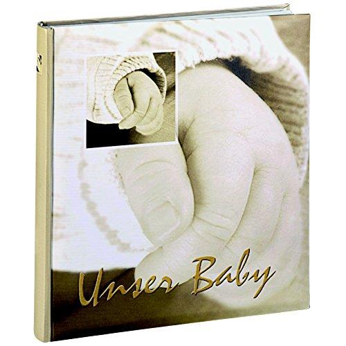 HAMA Album porta foto Baby Hands rilegatura a libro, colore oliva