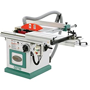 Grizzly G0700 Sliding Table Saw With Scoring Blade Arbor 10 Inch Power Table Saws