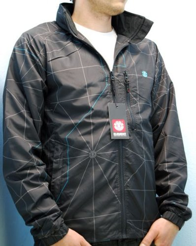 ELEMENT Metrix Black Jacke Windbreaker