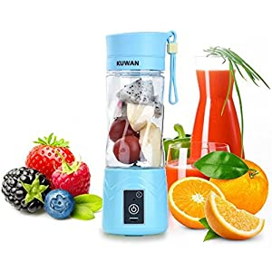 KUWAN Portable Juicer Cup Rechargeable Battery Juice Blender 380ml USB Electric Fruit Juicer by Kuwan