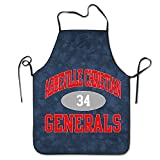 Bydhx Abbeville Christian Academy Generals 34 Overlock Apron Black