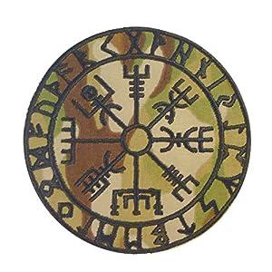 Multicam Vegvisir Viking Compass Norse Rune Morale Scorpion OCP Velcro Écusson Patch