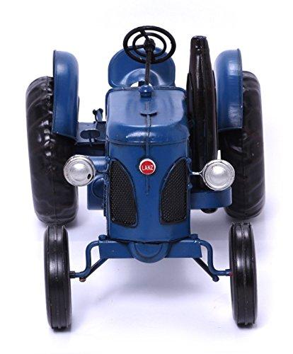 Model Car - Tractor Lanz, light blue - Retro Tin Model