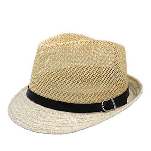 cappello uomini anziani/ cappello di paglia vecchio tempo libero/Cappelli estivi traspiranti/cappello di maglia sottile Sun Spring-A Unica