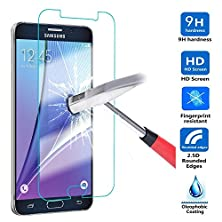 buy Nancy'S Shop For Samsung Galaxy Note 5 Ultra Thin Premium Tempered Glass Screen ProtectorFull HdFilmAnti-Scratch Anti-Fingerprint Bubble Drops Free Crystal Clear 0.3Mm9H Hardness 99% Hardness (1)