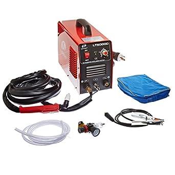 "LT5000D Lotos LT5000D 50A Air Inverter Plasma Cutter Dual Voltage 110/220VAC 1/2"" clean Cut"