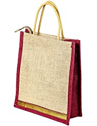 Multi-purpose Jute Carry Bag/lunch Bag/shopping Bag - B01LZG9F2C