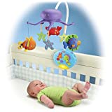 Fisher-Price Ocean Wonders Deep Blue Sea Mobile Fisher-Price Crib Mobiles Remote Control Children, Kids, Game