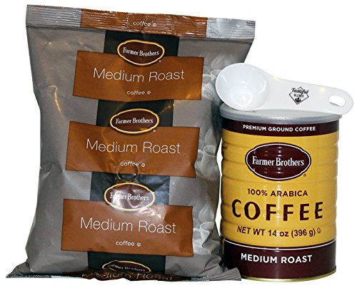 Farmer Brothers Ground Coffee Bundle. (1) - 14 oz 100% Arabica Classic Can (1) - 14 oz Medium Roast Ground Coffee Bag (1) Coffee Scoop. (Farmer Brothers Coffee Makers compare prices)