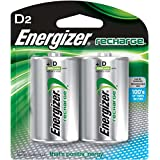 Energizer Rechargeable Batteries, D, 2-Count