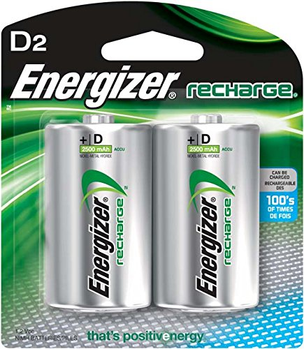 Energizer Rechargeable Batteries, D, 2-Count (D Battery Rechargeable compare prices)