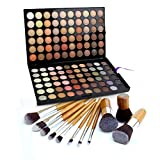 Bestrice 120 Colors Eye Shadow Palette Camouflage Makeup Palette Kit + 11 Pro Bamboo Cosmetic Makeup Brush Set