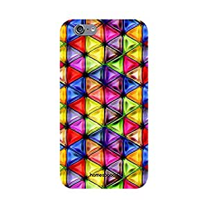 HomeSoGood Colorfully Covered By Triangles Multicolor 3D Mobile Case For iPhone 6S (Back Cover)