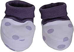 Bio Kid Unisex Booties - Set Of 2 Pieces (Purple)