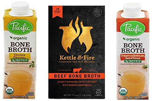 Bone Broth Sampler- Grass-fed Beef, Free-range Chicken & Turkey
