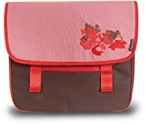 BASIL PRIMA VISTA DOUBLE BAG - RED AND BROWN
