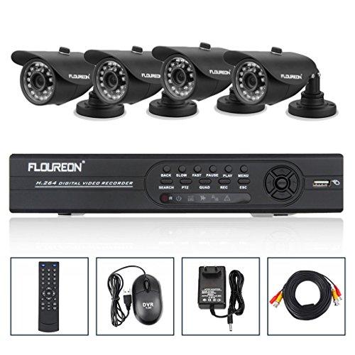 Videoüberwachung Set 8CH Full D1 DVR Außen Tag&Nacht 1000TVL HD Sicherheit Kameras HDMI 8 Kanal CCTV System 4 Outdoor Überwachungskamera