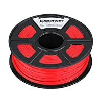 Excelvan 1.75mm PLA 3D Printer Filament - 1kg Spool (2.2 lbs) - Dimensional Accuracy +/- 0.02mm - Multi Colors Available (red) by Excelvan