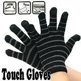 Touch Gloves タッチパネル対応手袋 ボーダー・ブラック/グレー 0990237