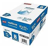 "Staples 8-Ream Case Multiuse Multipurpose Copy Fax Inkjet & Laser Printer Paper, 8 1/2"" x 11"" Letter, 94 Bright White, 20 lb., 4000 Sheets Total/Carton (1149611)"