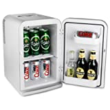 Thermoelectric Mini Fridge Cooler and Warmer 15ltr Silver | bar@drinkstuff Domestic Mini Fridge, Food & Drinks Chiller, Can Cooler, Beer Cooler, Food Warmer, Car Fridge