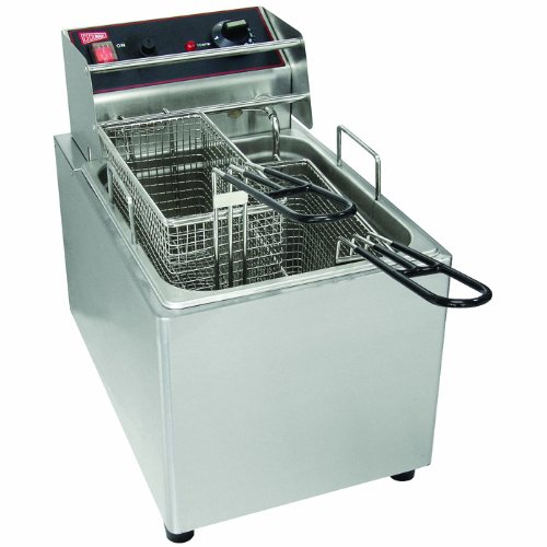 Cecilware Stainless Steel 1 Pot Countertop Electric Fryer, 1