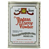 Sun Brand Madras Curry Powder, 16 Ounce Cans (Pack of 4) ~ Sun