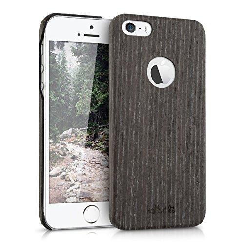 kalibri-Holz-Case-Hlle-fr-Apple-iPhone-SE-5-5S-Handy-Cover-Schutzhlle-aus-Echt-Holz-und-Kunststoff-aus-Gingkoholz-in-Anthrazit