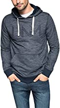 EDC by Esprit Men's Embroidered Long Sleeve Hoodie