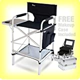 EARTH PRO MAKEUP ARTIST CHAIR / CASE COMBO (FREE Makeup Case: $30.00 Value) & SIDE TABLE