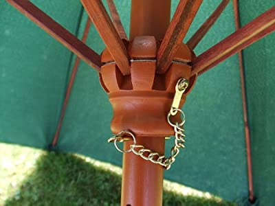 Bambusschirm 2,0 BLAU - praktischer Strandschirm in Tragetasche von Spetebo - Gartenmöbel von Du und Dein Garten