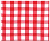 Durable Hand Woven 100% Cotton Red Picnic Check Tablecloth 60&quot; X 60&quot;