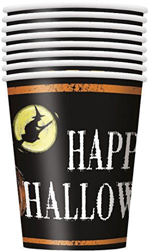 9oz Ghostly Halloween Paper Cups, 8ct - 1