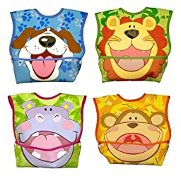 Dex Baby Dura-bib Big Mouth- 4 Pack