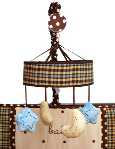 Baby Sam Mad About Plaid in Mobile Bedding Accessory, Blue