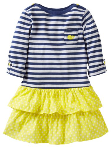Carter'S Girls' Striped Dress (Toddler/Kids) - Navy - 4T front-221319