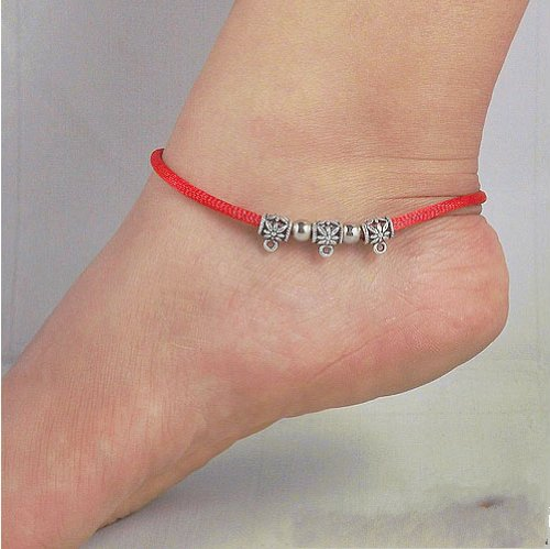 Tibetan Silver Sterling Silver Bangle Anklet Chain Bracelet Jewellery Quality Style NO.3021