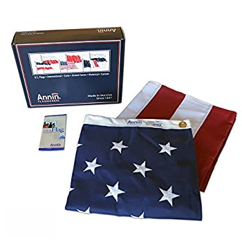American Flag 3x5 ft. Tough-Tex the Strongest, Longest Lasting Flag by Annin Flagmakers, 100% Made in USA with Sewn Stripes, Embroidered Stars and Brass Grommets.Model 2710