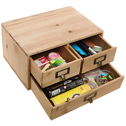 Small Wooden Storage Cabinets ~ Small natural wood office storage cabinet jewelry