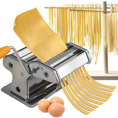 Stainless Steel Fresh Pasta Maker Roller Machine for Spaghetti Noodle Fettuccine (Cast Iron Craft Pins compare prices)