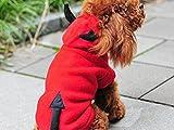 ハロウィンコスプレ仮装パーティにペットも参加!犬猫用着ぐるみコスチュームXS〜XLまで(レッドデビルXL)
