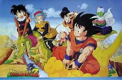 Dragonball Z - Manga / Anime TV Show Poster (Goku & Friends) (Size: 34
