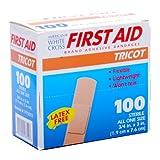 White Cross Tricot Bandage Strips 3/4'' X 3'' 100/box